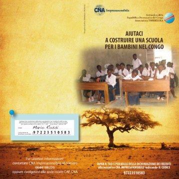 Il tuo 5 per mille ai bambini del Congo - CNA Impresasensibile