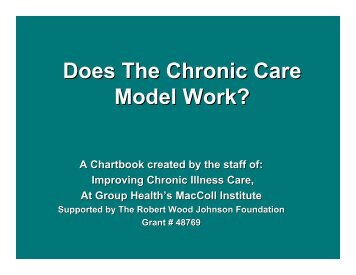 Does The Chronic Care Model Work? - Improving Chronic Illness Care