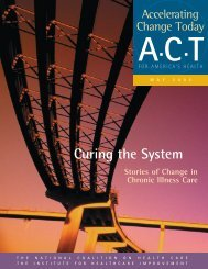 Curing the System - Improving Chronic Illness Care