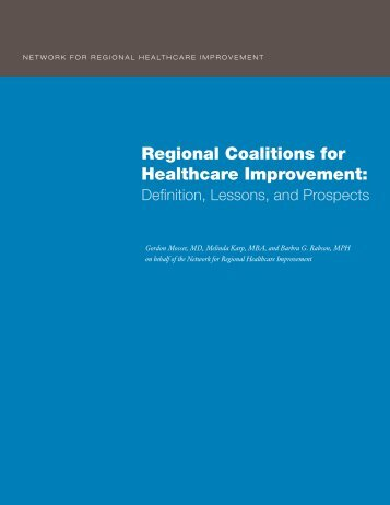 Regional Coalitions for Healthcare Improvement: - Improving ...