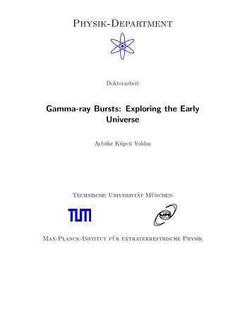 Gamma-ray bursts : exploring the early universe - International Max ...