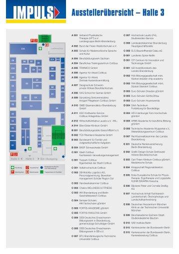 Ausstellerübersicht – Halle 3 - bei der IMPULS in Cottbus | Impuls ...
