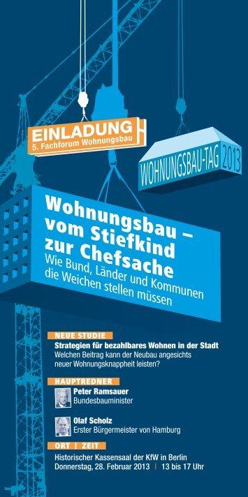der Einladungs-Flyer als pdf. - Impulse für den Wohnungsbau