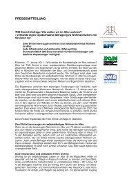 Download der Pressemitteilung - Impulse für den Wohnungsbau
