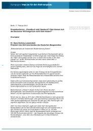 Dr. Hans-Hartwig Loewenstein, Präsident des ZDB - Impulse für den ...