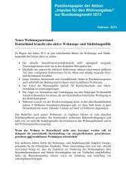Impulse für den Wohnungsbau - Bundesarchitektenkammer eV