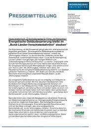 zur Pressemitteilung als pdf - Impulse für den Wohnungsbau