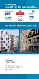 Einladung zur Veranstaltung - Impulse für den Wohnungsbau