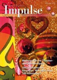 Weihnachtliche Theater- und Konzerttipps ... - Impulse Singapur