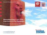 Energieberatertag 2012, Wärmedämmung in der Kritik - Hessische ...