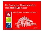 Die EnergieSparkasse Odenwald - Hessische Energiespar-Aktion