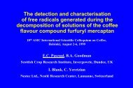 The detection and characterisation of free radicals generated during ...