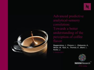 Advanced predictive analytical-sensory correlation: Towards a better ...