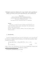Multiple nontrivial solutions for some fourth order quasilinear elliptic ...