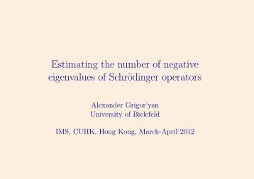 Estimating the number of negative eigenvalues of Schrodinger ...