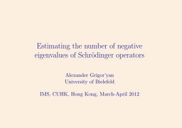 Estimating the number of negative eigenvalues of Schrodinger ...