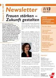 Frauen-Newsletter 1/2013 - GEW