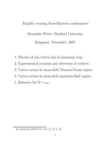 Rapidly rotating Bose-Einstein condensates∗ Alexander Fetter ...