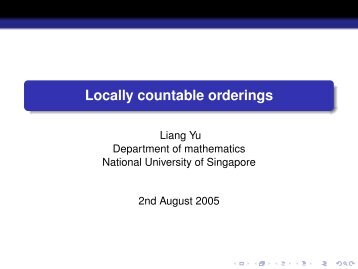 Locally countable orderings