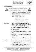 Betriebsanleitung Phonomat SK 25 - Calira - Page 7
