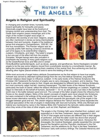 Angels in Religion and Spirituality - Shri Adi Shakti: The Kingdom Of ...