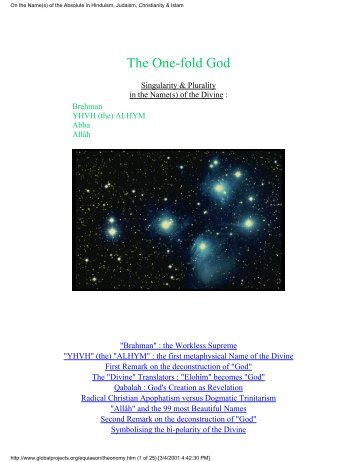 One-Fold God - Shri Adi Shakti: The Kingdom Of God