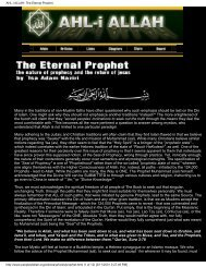 AHL-i ALLAH: The Eternal Prophet - Shri Adi Shakti: The Kingdom ...