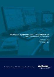 Matrox Digisuite Max-Plattformen