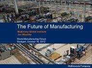 The Future of Manufacturing - Intelligent Manufacturing Systems