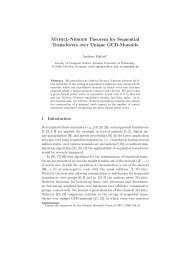 Myhill-Nerode Theorem for Sequential Transducers over Unique ...