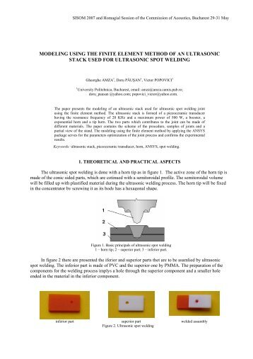 modeling using the finite element method of an ultrasonic stack used ...