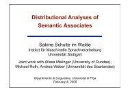 Distributional Analyses of Associates - Institut für Maschinelle ...