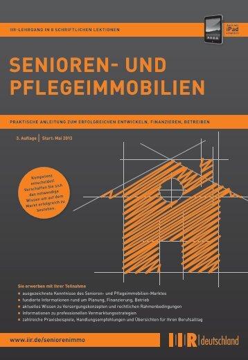 SenIoren- und PflegeImmobIlIen - IIR Deutschland GmbH