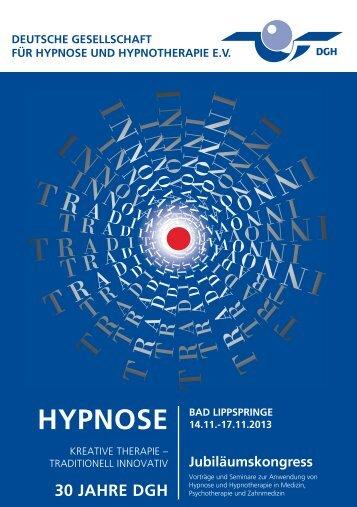 HYPNOSE - Deutsche Gesellschaft für Hypnose e.V.