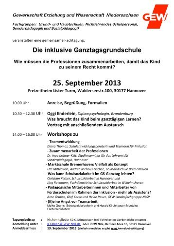 25. September 2013 - GEW Niedersachsen