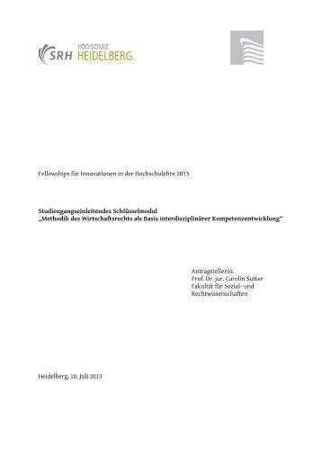 Fellowships für Innovationen in der Hochschulehre 2013 ...