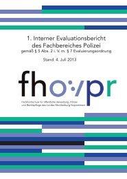 Erster Interner Evaluationsbericht FB Polizei - Fachhochschule für ...