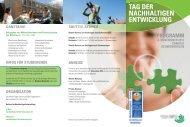 Flyer Tag Der NE HFU - Hochschule Furtwangen