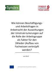 Wie können Beschäftigungs- und Arbeitsfragen in ... - ETUC
