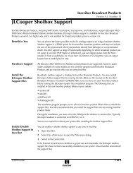 Jlcooper Shotbox Support