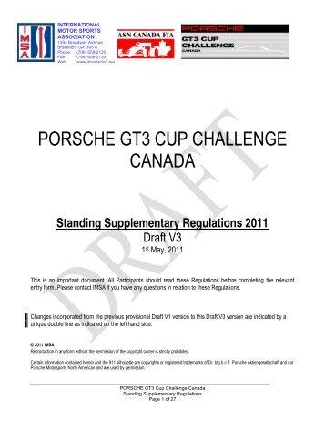 porsche gt3 cup challenge canada - the International Motor Sports ...