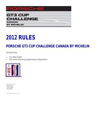 2012 Porsche GT3 Cup Challenge Canada By Michelin - the ...