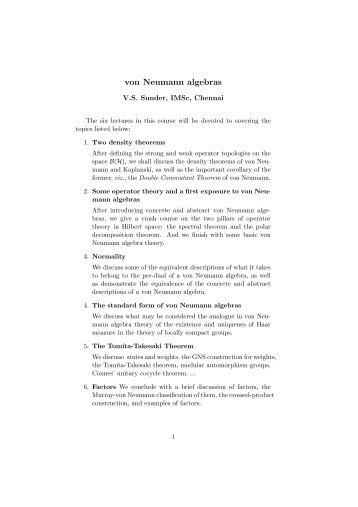 von Neumann algebras
