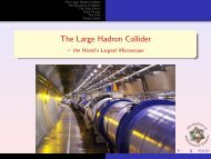 The Large Hadron Collider - the World's Largest Microscope