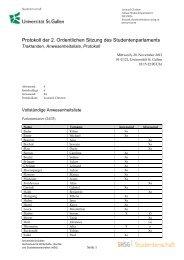Definitives Protokoll (PDF) - Studentenschaft der Universität St. Gallen