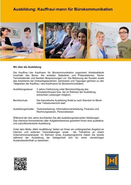 Ausbildung: Kauffrau/-mann für Bürokommunikation