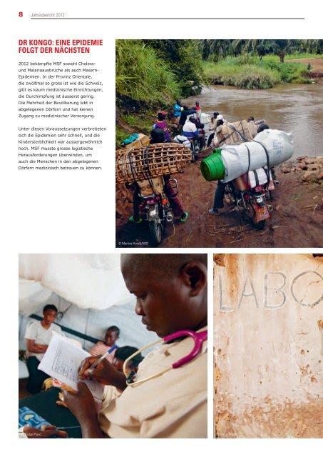 Jahresbericht MSF Schweiz 2012 (pdf, 5582 KB) - Médecins Sans ...