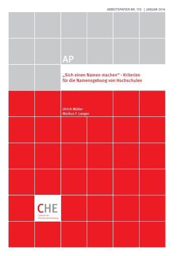 CHE AP 170 Hochschulnamen.pdf - Centrum für ...