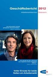AMS Geschäftsbericht 2012 - Arbeitsmarktservice Österreich