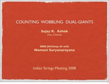 COUNTING WOBBLING DUAL-GIANTS